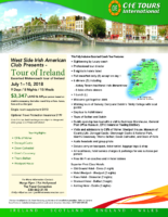 Flyer for West Side Ireland
